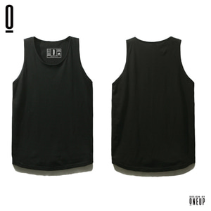 ONEUP ST02 LONG SLEEVELESS  - BLACK
