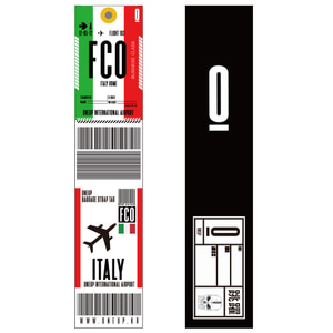 ONEUP SA01 BAGGAGE NAME TAG - ITALY 네임택 키링