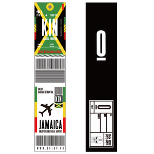 ONEUP SA01 BAGGAGE NAME TAG - JAMAICA 네임택 키링
