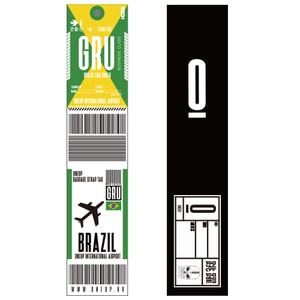 ONEUP SA01 BAGGAGE NAME TAG - BRAZIL 네임택 키링