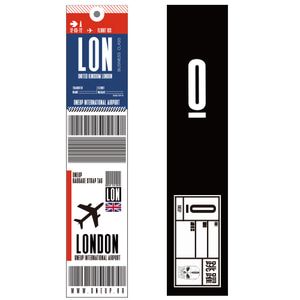 ONEUP SA01 BAGGAGE NAME TAG - LONDON 네임택 키링