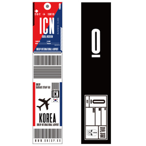 ONEUP SA01 BAGGAGE NAME TAG - KOREA 네임택 키링