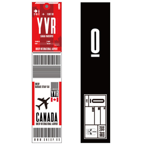 ONEUP SA01 BAGGAGE NAME TAG - CANADA 네임택 키링